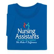Nursing Assistants We Care, We Comfort We Make A Difference Adult Short-Sleeve T-Shirt