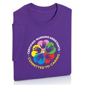 Certified Nursing Assistants: Committed To Caring Adult Short-Sleeve T-Shirt