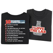 I Love The Lab/10 Reasons 2-Sided T-Shirt