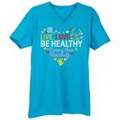 Live, Love, Be Healthy... Premium V-Neck T-Shirt