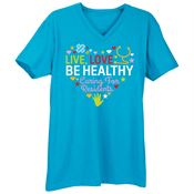 Live, Love, Be Healthy... Premium V-Neck T-Shirt