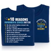 10 Reasons Environmental Services Matters 2-Sided T-Shirt