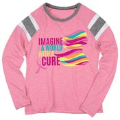 Imagine A World With A Cure Ladies' Long Sleeve Fanatic T-Shirt