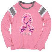 Hope/Butterflies Ladies' Long Sleeve Fanatic T-Shirt