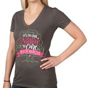 Social Workers: It's In Our Nature To Care Women's V-Neck T-Shirt