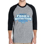 Property Of Food & Nutrition Services Team 3/4 Raglan Sleeve T-Shirt