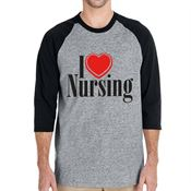 I (Heart) Nursing 3/4 Raglan Sleeve T-Shirt