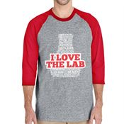 I Love The Lab 3/4 Raglan Sleeve T-Shirt