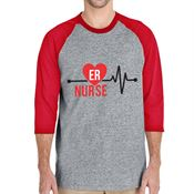 ER Nurse 3/4 Raglan Sleeve T-Shirt