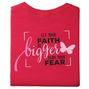 Let Your Faith Be Bigger Than Your Fear Awareness 2-Sided T-Shirt