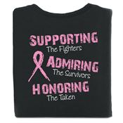 Supporting The Fighters, Admiring The Survivors, Honoring The Taken Awareness 2-Sided T-Shirt