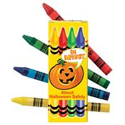 Non-Toxic Crayons with Halloween Sleeve
