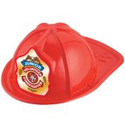 Red Junior Volunteer Firefighter Hat With Eagle Design