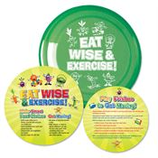 Eat Wise & Exercise! Flyer Disc & Educational Card
