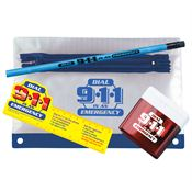 Dial 9-1-1 In An Emergency Pencil Pouch Gift Set
