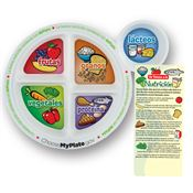 Spanish Adult MyPlate Portion Meal Plate With Glancer