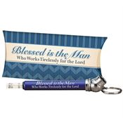 Blessed Is The Man Who Works Tirelessly For The Lord Mini Tire Gauge Key Tag With Pillow Box