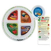 MyPlate Adult Portion Meal Plate With Glancer