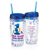 One Team One Goal Making A Difference Double Wall Acrylic Tumbler With Straw