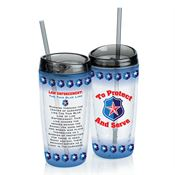 To Protect And Serve Double-Wall Acrylic Tumbler With Straw