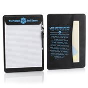 To Protect And Serve Leatherette Magnetic Clipboard & Stylus Pen