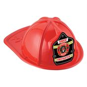 Yellow/Silver Stripe Junior Firefighter Hat (Red)