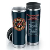 Firefighters: The Thin Red Line Insulated Tumbler With Insert 16-oz.