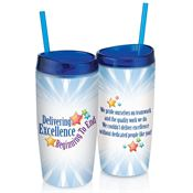 Delivering Excellence Beginning To End Double-Wall Acrylic Tumbler With Straw