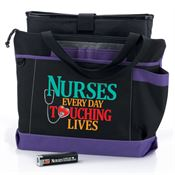Nurses: Every Day Touching Lives Madison Tote, Laptop Sleeve, & Power Bank Gift Trio