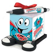 Superheroes Smiley Guy Note Cube & Full-Color Pen Gift Set