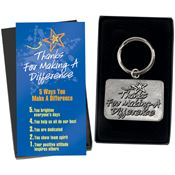 Thanks For Making A Difference  Pewter Key Tag with Keepsake Card