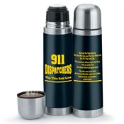 911 Dispatchers: The Thin Gold Line Vacuum Thermos 16-oz.