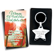 Women Shine With God's Love Star Key Tag