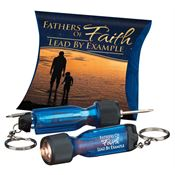 Fathers Of Faith Lead By Example Mini Light-Up Screwdriver Key Tag With Pillow Box