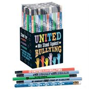 United We Stand Against Bullying 150-Piece Anti-Bullying Pencil Collection