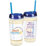 Food & Nutrition Services Double-Wall Acrylic Tumbler With Straw