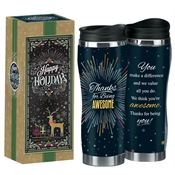 Thanks For Being Awesome Insulated Tumbler With Holiday Box