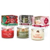Gift-Boxed Wooden Wick Candle Holiday Trio