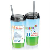 Children: The Heart Of Our Future Double Wall Acrylic Tumbler With Straw