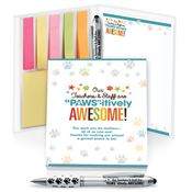 Our Teachers & Staff Are PAWS-itively Awesome! Stationery Folio