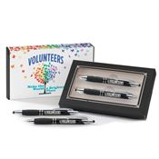 Volunteers Make The World A Brighter Place Sayville Metal Stylus Pen & Pencil Gift Set