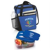 Volunteers Make The World A Brighter Place Merrick Lunch Cooler Bag & 2-Section Food Container Gift Set