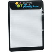 Everyone Is Family Here Leatherette Clipboard With Stylus Pen