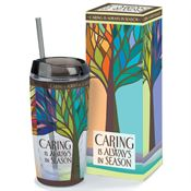 Caring Is Always In Season Acrylic Tumbler With Straw