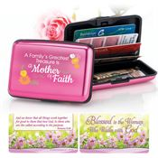A Family's Greatest Treasure Is A Mother Of Faith Identity Guard Aluminum Wallet