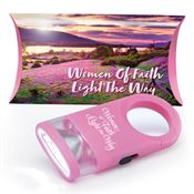 Women Of Faith Light The Way LED Carabiner Flashlight Lamp