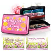 Women Of Faith Make A Difference Identity Guard Aluminum Wallet