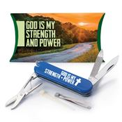 God Is My Strength And Power Multi-Tool Knife With Pillow Box