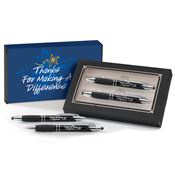 Thanks For Making A Difference Sayville Metal Stylus Pen & Pencil Gift Set