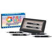 Public Service Making A Difference Sayville Metal Stylus Pen & Pencil Gift Set